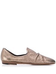 Pantanetti Ruched Slippers Gold