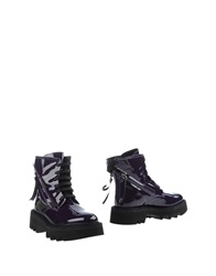 Bruno Bordese Ankle Boots Purple