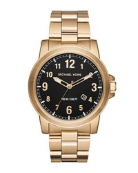 Michael Michael Kors 43Mm Paxton Men's Oversized Stainless Steel Watch Gold