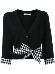 Blumarine Bow Detail Cardigan Black