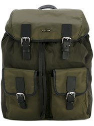 Moncler Buckle Detail Backpack Green