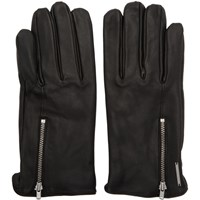 Tiger Of Sweden Black Leather Guesti Gloves