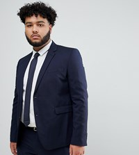 Burton Menswear Big And Tall Skinny Suit Jacket In Navy
