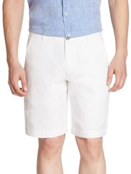 Saks Fifth Avenue Solid Linen Shorts White Denim