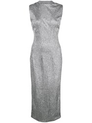 Rta Sleeveless Midi Dress Silver