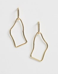 Ny Lon Nylon Geometric Drop Earrings Gold