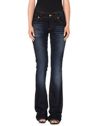 Galliano Denim Denim Trousers Women Blue