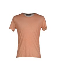 Vneck Topwear T Shirts Men Salmon Pink
