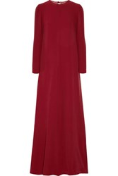 Valentino Draped Silk Cady Gown Claret