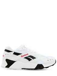 Reebok Aztrek Faux Leather Sneakers White Black