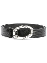 Just Cavalli Snakeskin Effect Belt Black