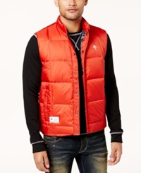 Lrg Men's Lifted Quilted Puffer Vest Red