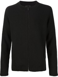 Atm Anthony Thomas Melillo Atm Zip Cardigan Black
