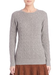 Polo Ralph Lauren Cable Knit Cashmere Sweater Fawn Grey