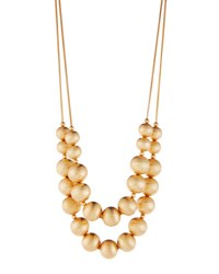 Lydell Nyc Long Double Strand Beaded Necklace Gold