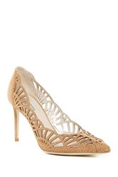 Giorgio Armani Decollete Crystal Embellished Pump Beige