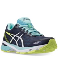 Asics Women's Gt 1000 5 Running Sneakers From Finish Line Indigo Blue White Yellow