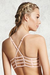 Forever 21 Low Impact Caged Sports Bra Light Pink