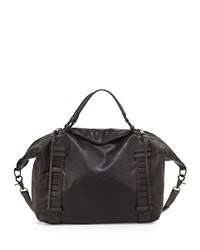 French Connection Harper Perforated Satchel Bag Black