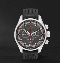 Zenith El Primero Sport Stainless Steel And Rubber Watch
