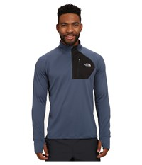 The North Face Impulse Active 1 4 Zip Pullover Conquer Blue Tnf Black Men's Long Sleeve Pullover Navy