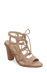 Sbicca Women's Sanni Cage Sandal Taupe Leather