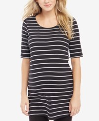 Motherhood Bumpstart Maternity Striped Tunic Black White Stripe