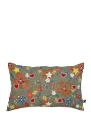 Funky Table Freedom Embroidered Cotton Pillow