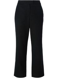 Givenchy Vintage Cropped High Waist Trousers Black