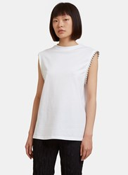 Alyx Ball Chain Studded Tank Top White