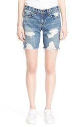 Rag And Bone Women's Rag And Bone Jean Destroyed Denim Walking Shorts Cooper