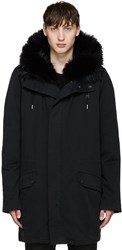 Yves Salomon Black Original Parka
