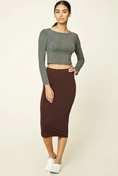 Forever 21 Bodycon Midi Knit Skirt