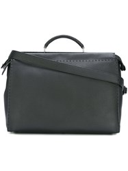 Fendi 'Selleria Peekaboo' Tote Black