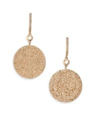 Astley Clarke Icon Pave Light Grey Diamond And 14K Rose Gold Drop Earrings
