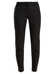 Saint Laurent Tailored Wool Trousers Black