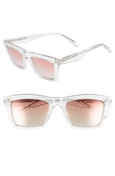 Kendall Kylie Kamilla 53Mm Square Sunglasses Crystal Rose Brown Gradient Crystal Rose Brown Gradient