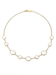 Ippolita Polished Rock Candy Mother Of Pearl And 18K Yellow Gold Station Necklace