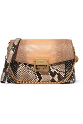 Givenchy Gv3 Small Leather Trimmed Python Pink