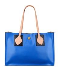 Anne Klein Amelia Large Faux Leather Tote Blue