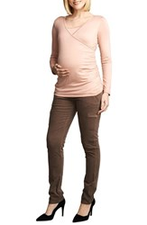 Women's Maternal America Wrap Ruched Nursing Top