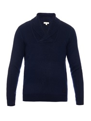 Burberry Shawl Collar Wool And Cashmere Blend Sweater