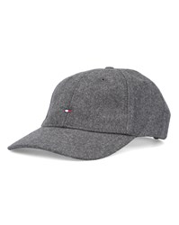 Tommy Hilfiger Grey Melton Wool Flag Cap