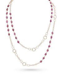 Dominique Cohen 18K Gold Pink Tourmaline Long Necklace 42 L
