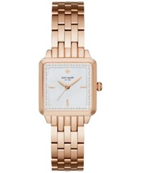 Kate Spade New York Women's Washington Square Rose Gold Tone Stainless Steel Bracelet Watch 25Mm Ksw1132 Rosegold
