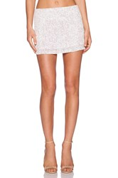 Mlv Bonnie Sequin Skirt White