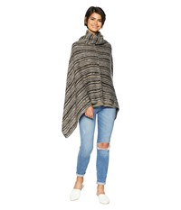 Steve Madden Striped Poncho Neutral Clothing