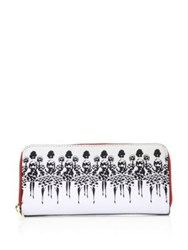 Alice Olivia Candice Long Wallet White Black