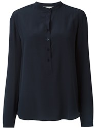 Stella Mccartney 'Eva' Crepe Shirt Blue