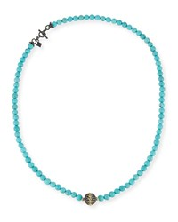 Armenta Old World Midnight Beaded Magnesite Necklace Lolite